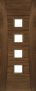 Deanta Pre-Finished Walnut Pamplona Clear Glazed Door